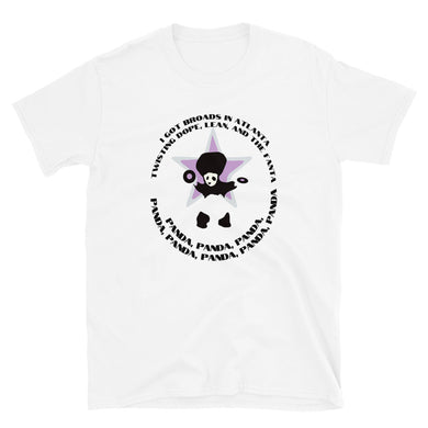 PANDA DESIIGNER LYRICS Short-Sleeve Unisex T-Shirt