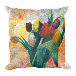 "Flower Series Single-sided ""Tulips"" Cushion"
