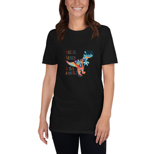 "DRUNK DINO ""Fancy a Gin & Tonic?"" Short-Sleeve Unisex T-Shirt"