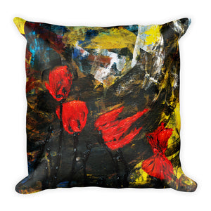 "Flower Series Single-sided ""Poppy Storm"" Cushion"