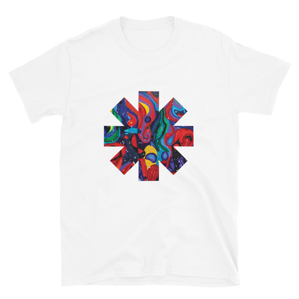 Red Hot Chili Pepper Star  Abstract Red Painting Short-Sleeve Unisex T-Shirt