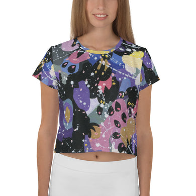 Summer Ice Cream All-Over Print Crop Tee