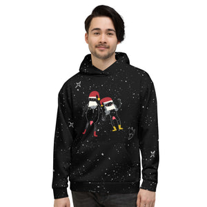 Intergalactic Cosmic Naughty Christmas Couple Unisex Hoodie