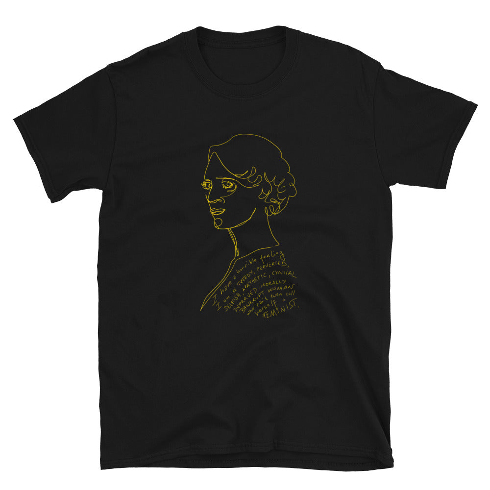 FLEABAG Bad Feminist quote Gold Line Drawing Short-Sleeve Unisex T-Shirt