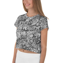 Load image into Gallery viewer, Great Music All-Over Print Crop Tee