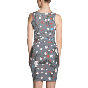 Abstract Grey Dress