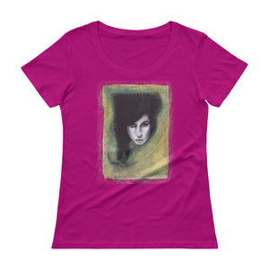"AMY WINEHOUSE ""I told you I was trouble"" Ladies' Scoopneck T-Shirt"