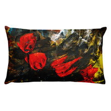 "Load image into Gallery viewer, Flower Series Single-sided ""Poppy Storm"" Cushion"