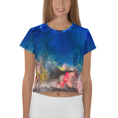 SkyFire All-Over Print Crop Tee