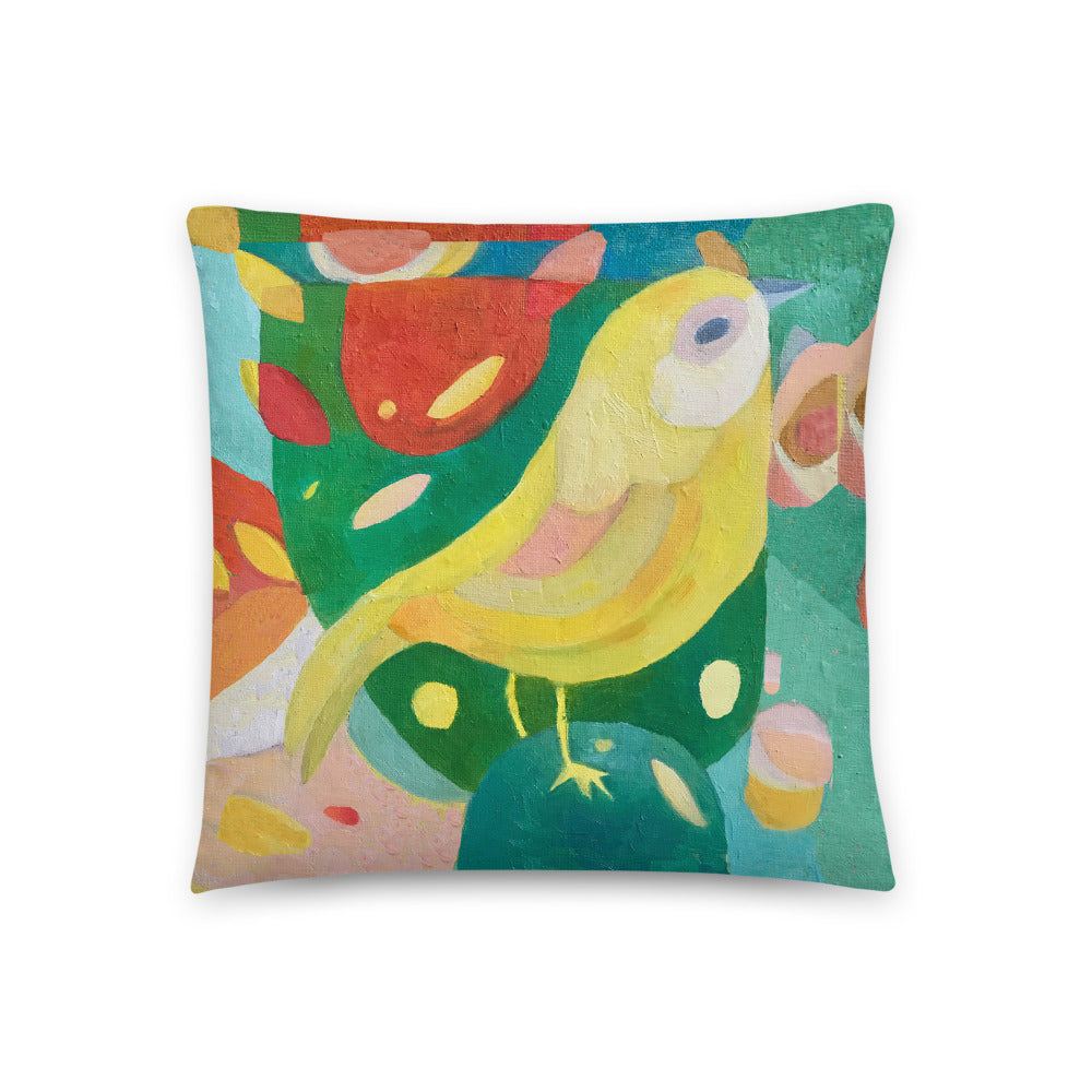 Canary painting based on Norwich City Football Club mascot Double-sided CushionBasic Pillow
