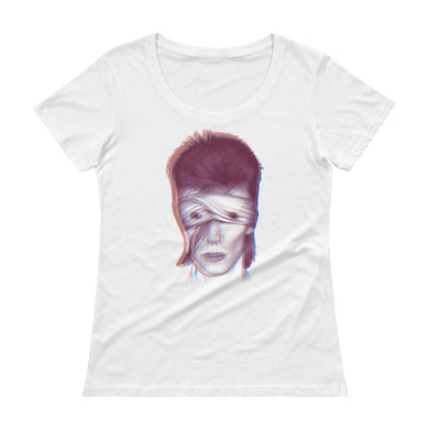 DAVID BOWIE Electric Ladies' Scoopneck T-Shirt