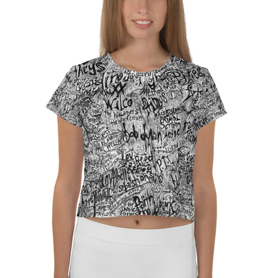 Great Music All-Over Print Crop Tee