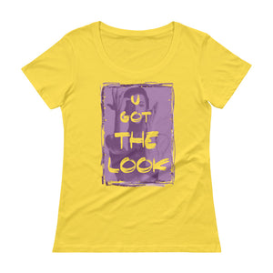 "PRINCE ""U Got The Look"" Ladies' Scoopneck T-Shirt"