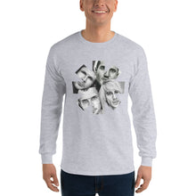 Load image into Gallery viewer, Red Hot Chili Peppers Charcoal Portraits Star Long Sleeve Shirt