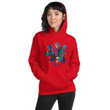 Load image into Gallery viewer, Red Hot Chili Pepper Star  Abstract Red Painting Unisex Hoodie