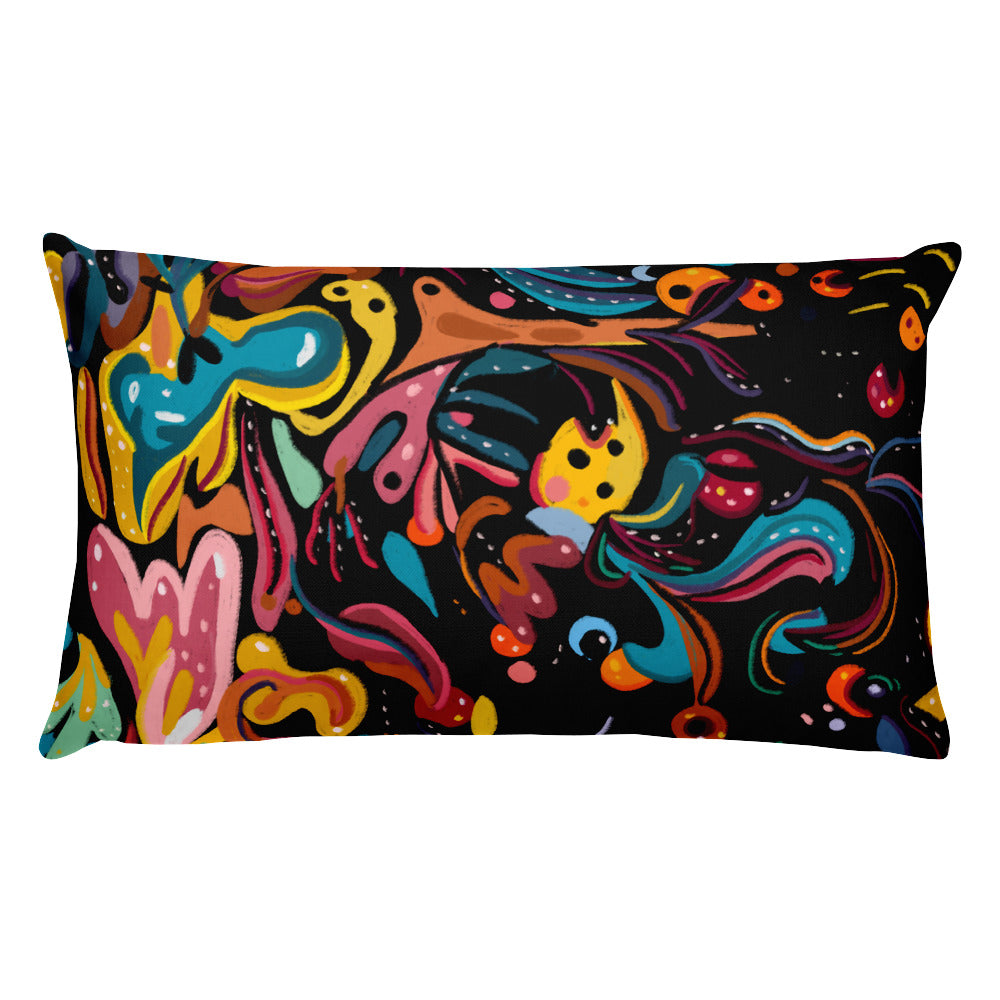 Summer Fruit Black Single-sided Cushion