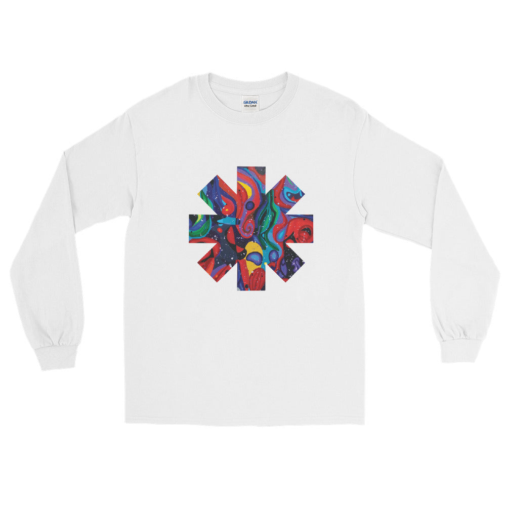 Red Hot Chili Pepper Star Abstract Red Long Sleeve Shirt