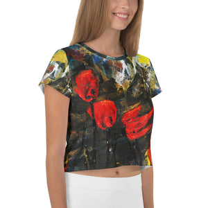 Poppy Storm All-Over Print Crop Tee