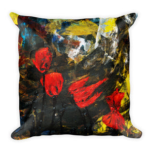 "Flower Series Double-sided ""Poppy Storm"" Cushion"