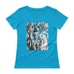PRINCE Collage Ladies' Scoopneck T-Shirt