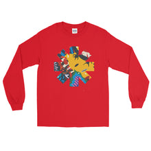 Load image into Gallery viewer, Red Hot Chili Pepper Abstract Yellow Long Sleeve Shirt