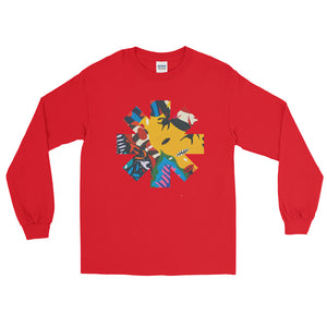 Red Hot Chili Pepper Abstract Yellow Long Sleeve Shirt