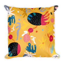Load image into Gallery viewer, Abstract Yellow single-sided cushion