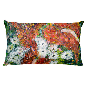 "Flower Series Single-sided ""Green Leaves"" Cushion"