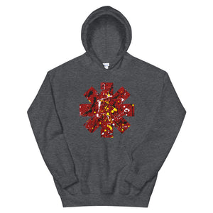 Red Hot Chili Pepper Star Splattered Paint Unisex Hoodie