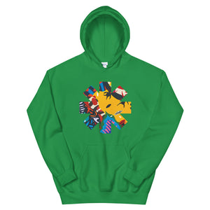 Red Hot Chili Pepper Abstract Yellow Unisex Hoodie