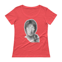 "Load image into Gallery viewer, JOHN LENNON ""IMAGINE"" Ladies' Scoopneck T-Shirt"