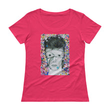 Load image into Gallery viewer, DAVID BOWIE Aladdin Sane Abstract Colours Ladies' Scoopneck T-Shirt