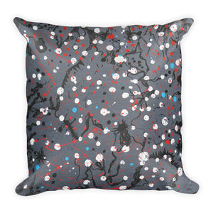 Abstract Grey Single-sided Cushion