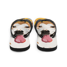 "Load image into Gallery viewer, Yellow ""BB"" Dog Flip-Flops"