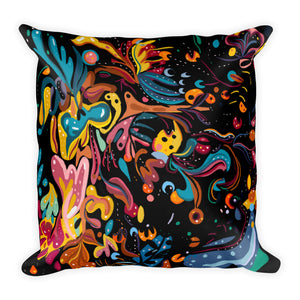 Summer Fruit Black Double-sided Cushion