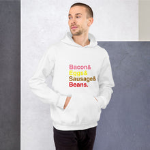 Load image into Gallery viewer, Bacon & Eggs & Sausages & Beans Unisex Hoodie