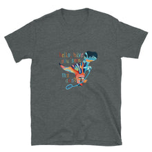 "Load image into Gallery viewer, DRUNK DINO ""Have you seen my dog?"" Short-Sleeve Unisex T-Shirt"