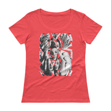 Load image into Gallery viewer, PRINCE Collage Ladies' Scoopneck T-Shirt