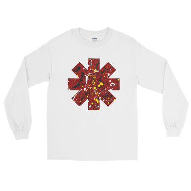 Red Hot Chili Pepper Star Splattered Paint Long Sleeve Shirt