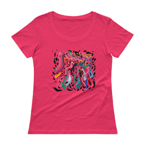 Flood of Love Ladies' Scoopneck T-Shirt