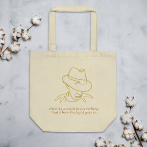 "LEONARD COHEN ""There is a crack in everything"" Eco Tote Bag"