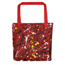 Load image into Gallery viewer, Abstract Red Tote bag