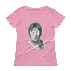 "JOHN LENNON ""IMAGINE"" Ladies' Scoopneck T-Shirt"