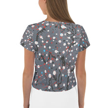 Load image into Gallery viewer, Abstract Grey All-Over Print Crop Tee