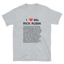 Load image into Gallery viewer, I Heart 80S Rick Rubin Short-Sleeve Unisex T-Shirt