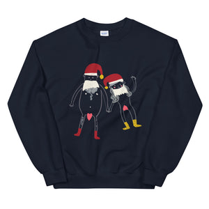 Naughty Christmas Couple Plain Unisex Sweatshirt