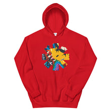 Load image into Gallery viewer, Red Hot Chili Pepper Abstract Yellow Unisex Hoodie