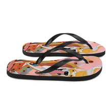 "Load image into Gallery viewer, Pink ""BB"" Dog Flip-Flops"