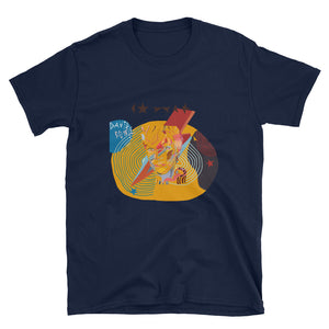 DAVID BOWIE RED ILLUSTRATION Short-Sleeve Unisex T-Shirt