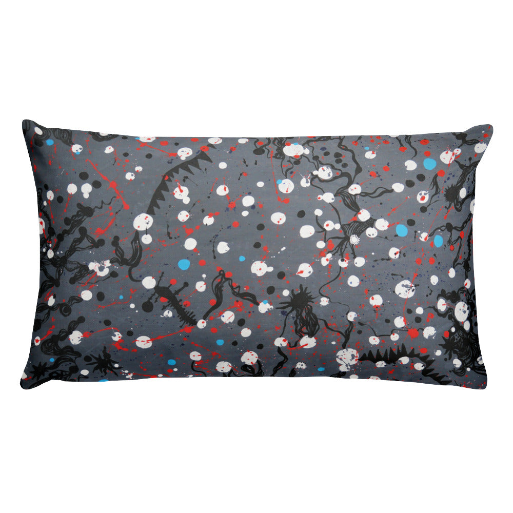 Abstract Grey Double-sided Cushion